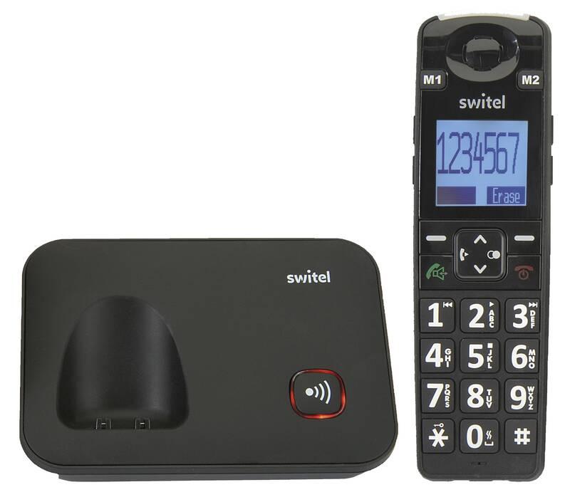 Comfort senioren telefoon D7000 Vita met grote SOS-knop en vibrerend alarm