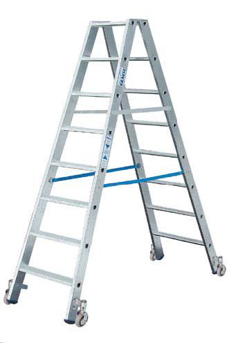 Stufen Doppelleiter 2 x 10 Stufen Alu Leiter | Baumarkt > Leitern und Treppen > Aluleiter | KRAUSE