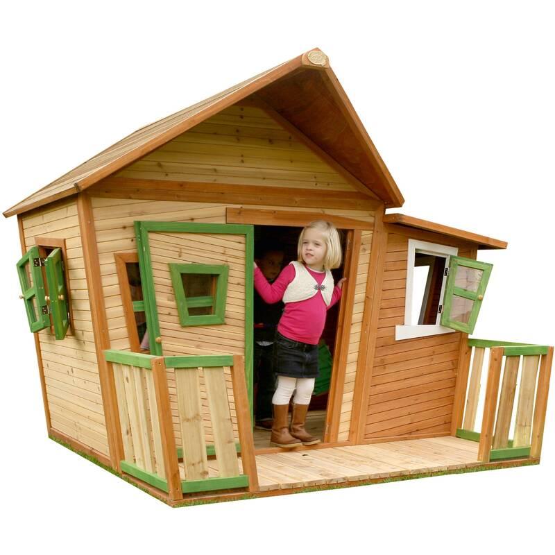speelhuis Lisa met uitbouw, hout/groen