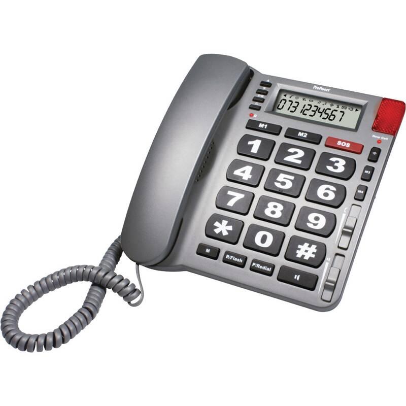 Big Button SOS-Telefoon Grijs