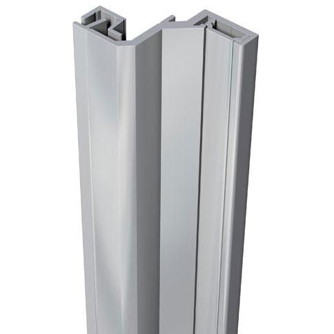 SecuStrip Anti-Inbraakstrip Style, Achterdeur, Grijs, 2500 mm, terugligging 24-26 mm