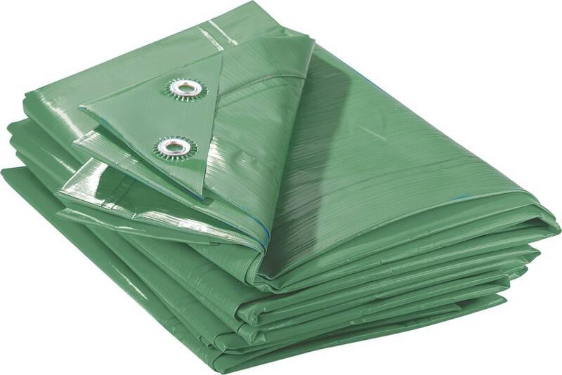 Super sterke zeildoek 150 g / m², groen / blauw, 4 x 6 mt