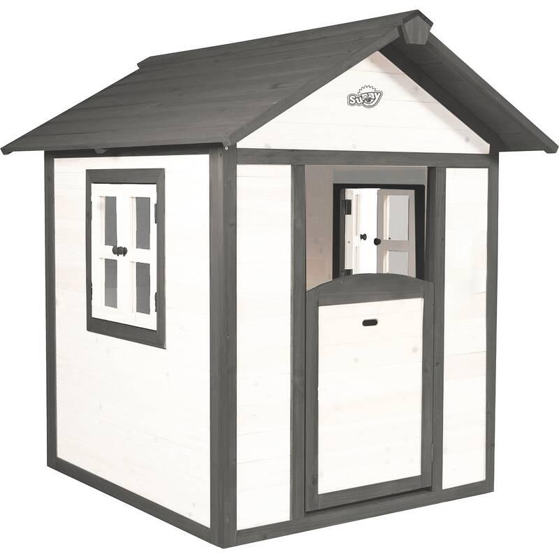 speelhuisje Lodge, grijs/wit