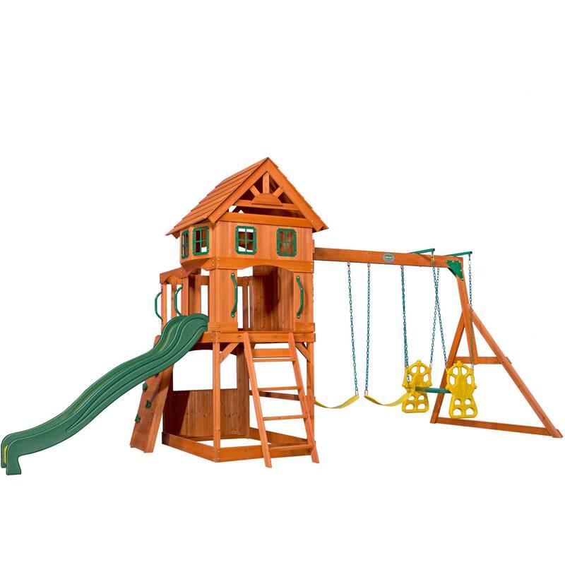 Backyard Discovery speeltoren met glijbaan en schommels Atlantic