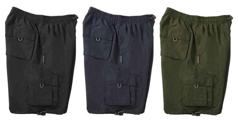 Korte broek met elastische taille olijfgroen maat XXXXXL