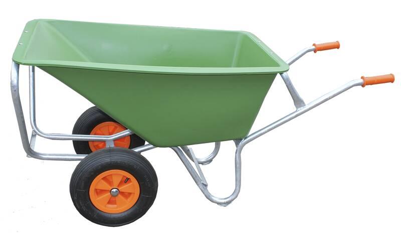Grote kruiwagen Green Garden II 170 L met 2 geschuimde Wflex-wielen en kiepbeugel