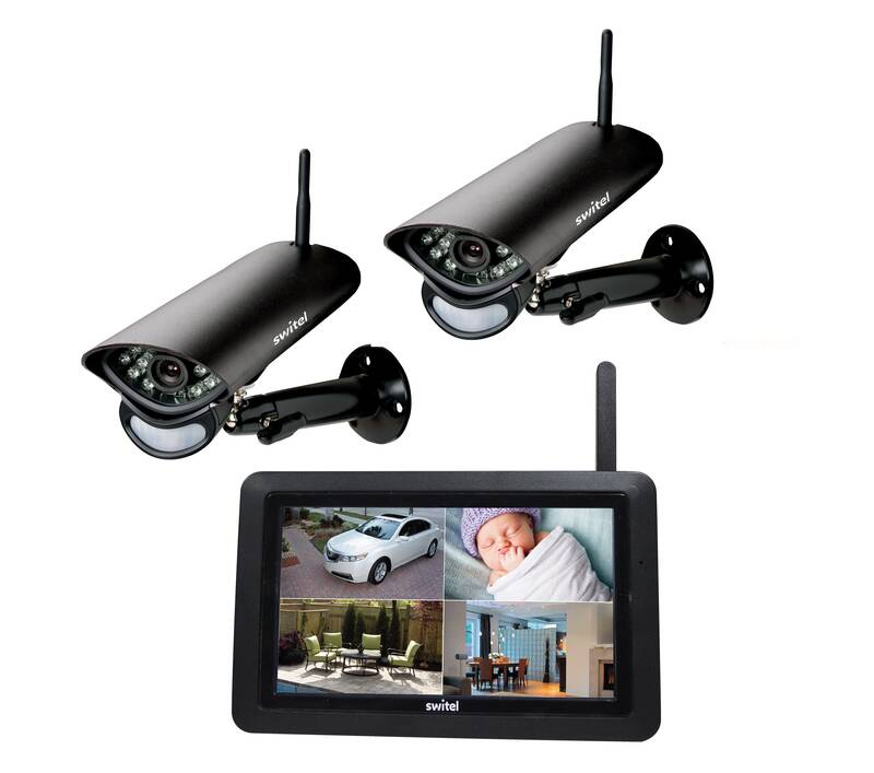 Digitaal draadloos bewakingssysteem met 7 monitor en weerbestendige camera