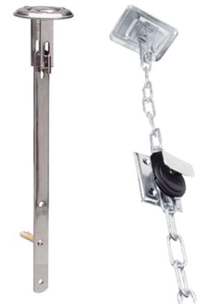 GS40 SB roosterbeveiliging voor schacht met ketting
