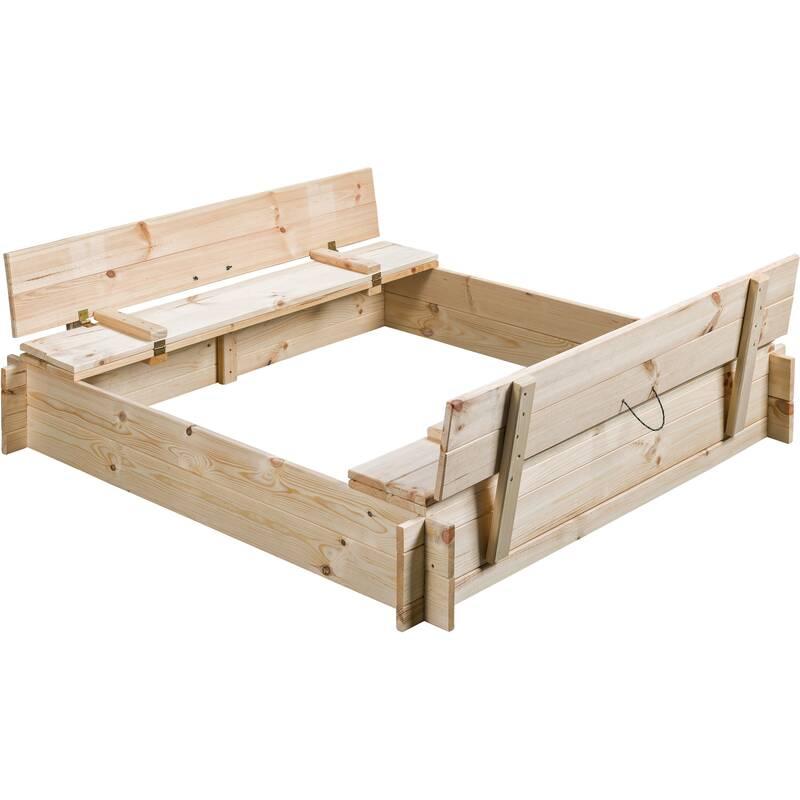 Zandbak Gucio blank hout 120x120x25 cm