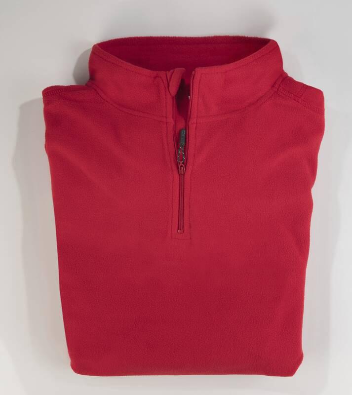 Fleece shirt, rood, maat M