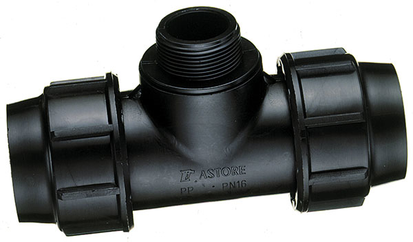 PP T-koppeling, 20 x 20 mm, 02/01 buitendraad