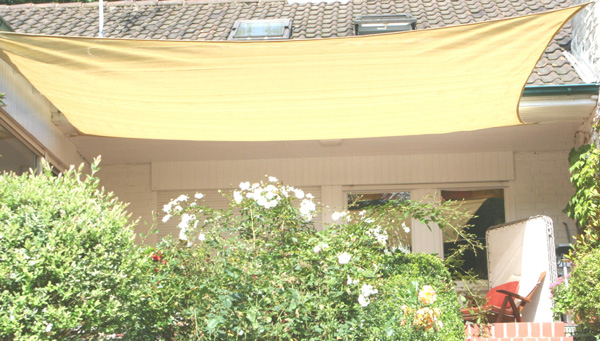 Schaduwdoek tuin rechthoek 400 x 500 cm grijs HDPE lucht- en waterdoorlatend