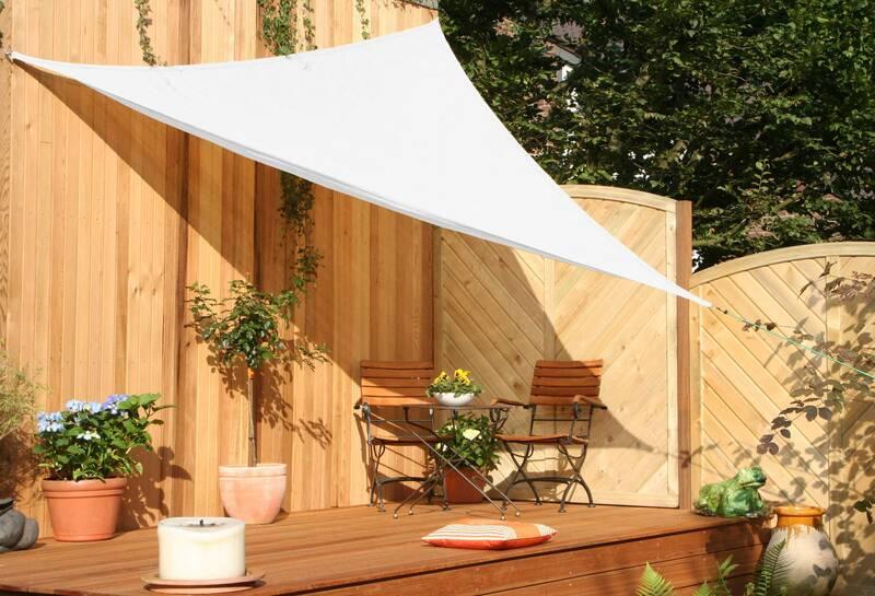 Schaduwdoek tuin driehoek 500 cm crème wit HDPE lucht- en waterdoorlatend
