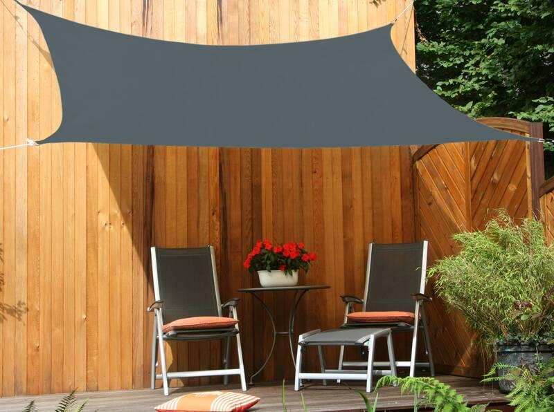 Schaduwdoek tuin rechthoek 250 x 300 cm crème wit HDPE lucht- en waterdoorlatend