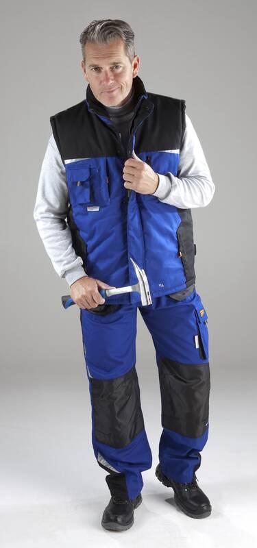 Bodywarmer heren, met reflectiestrepen, blauw, maat XL