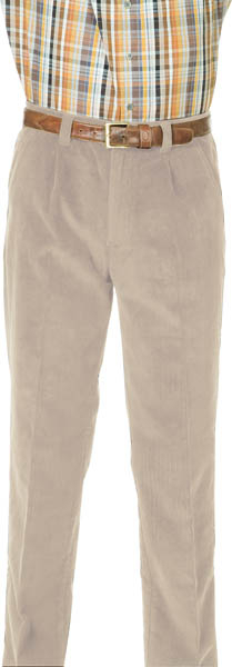 Stretch corduroy broek met elastische taille grijs maat 60
