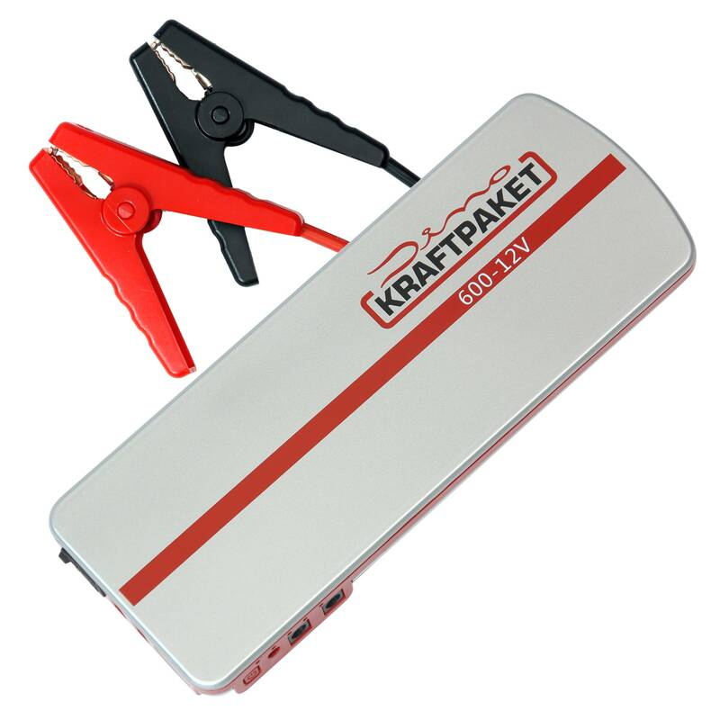 Starthulp 12 volt 18.000 mAh Power Bank 600 A en LED krachtpatser