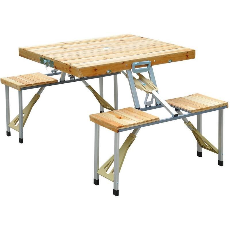 Houten campingtafel klaptafel picknickbank