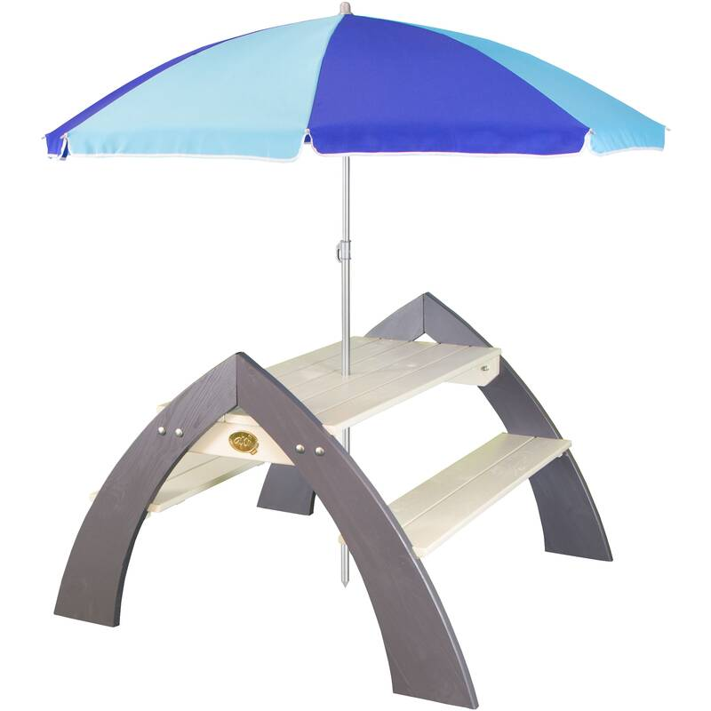 picknicktafel XL Kylo met parasol, grijs/wit