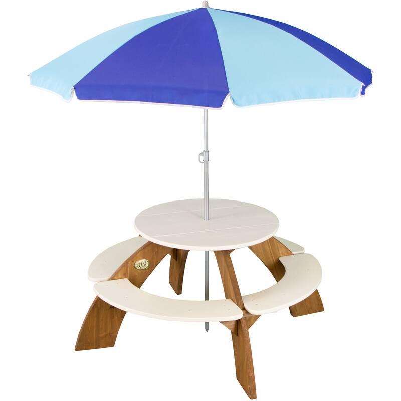 Picknicktafel rond Orion met parasol