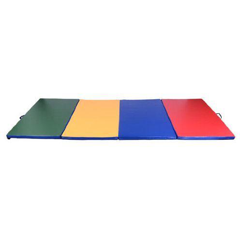 HOMCOM Trainingsmat 3-voudig opvouwbaar kleurrijk