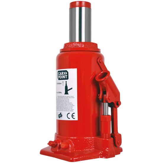 Carpoint Potkrik 30000kg hydraulisch met hefhoogte 285-465 mm - rood
