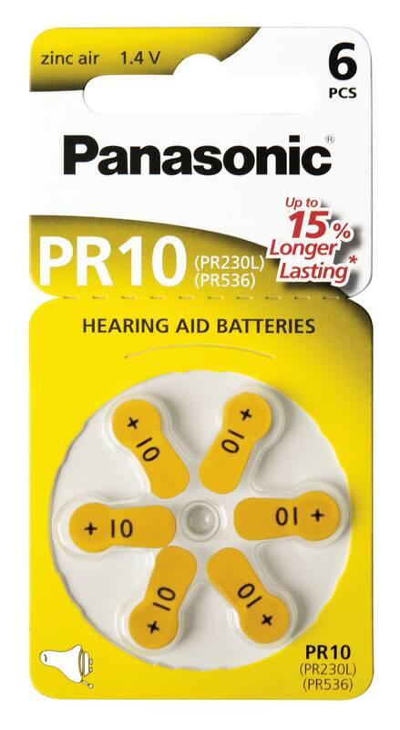 Panasonic Zink lucht gehoorapparaat batterij PR312 (bruin) 6 stuks