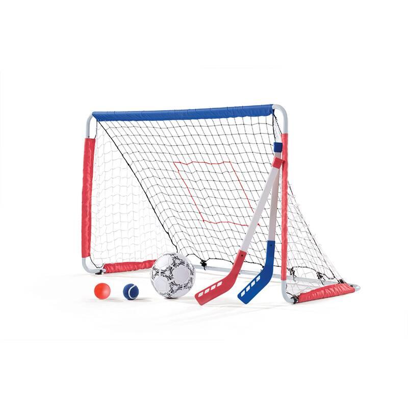 Kickback voetbal- en hockeygoal 6-delig wit 123 cm