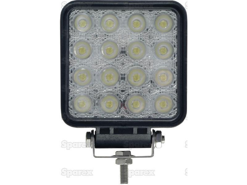 LED-werklamp, vierkant, 3600 lumen