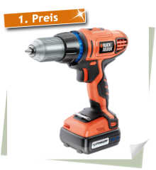 Black &amp; Decker 14.4V Akku-Bohrschrauber