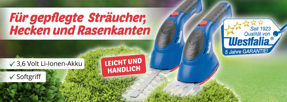 Akku Gras- und Strauchschere