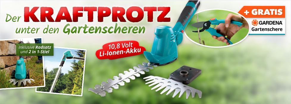 10,8 V Akku-Gras- und Strauchschere