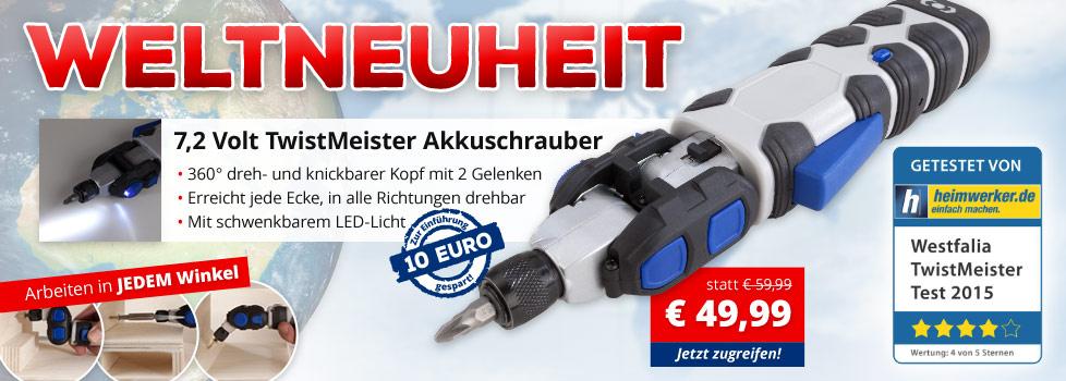 7,2 V Twist Meister Akkuschrauber