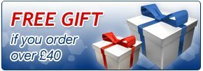 Free gift if you order over £40