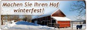 Hof winterfest machen