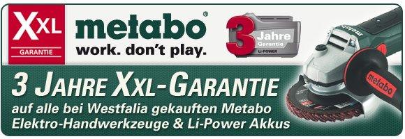 Metabo XXL-Garantie